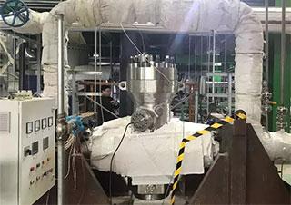中核科技研制的DN200爆破阀顺利通过热态开启与流量试验