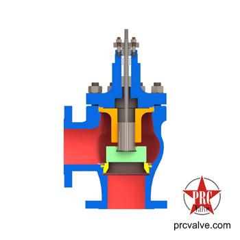 单座快速切断角阀阀芯采用上导结构