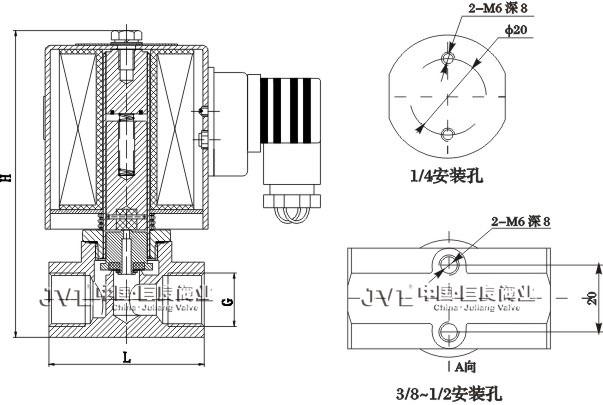 电磁阀接线电气符号和图形 文字