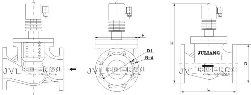 220v电动阀内制接线图